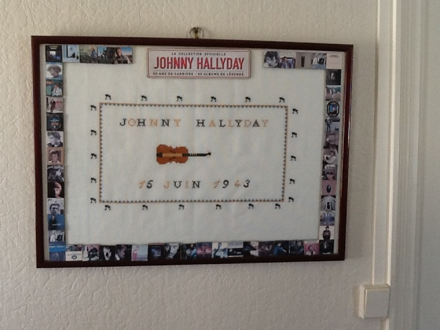 Cadre de Johnny Hallyday