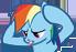 Rainbow Dash Confuse