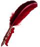 pluma roja