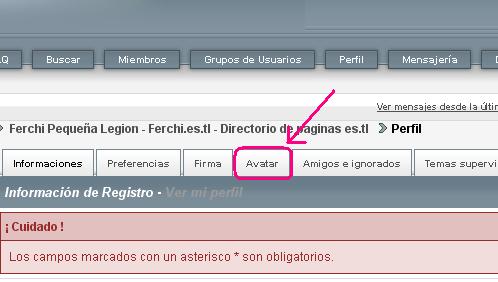 """Cambiar imagen """"avatar"""" del foro Ferchi11"""