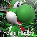 yoshi happy