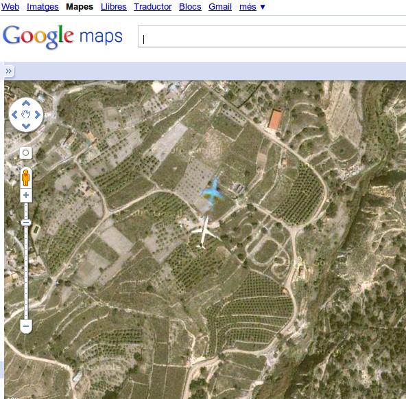 Curiosidades - Google Maps y los aviones Captur10