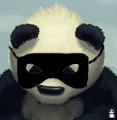 Le panda masqué