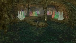 Una extraña caverna de cristales