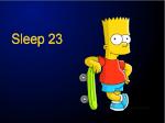 Sleep 23