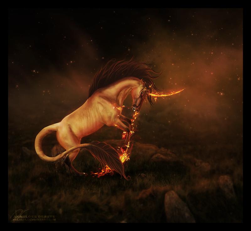 Licornes, centaures et chevaux ailés Fire-d10_800x800