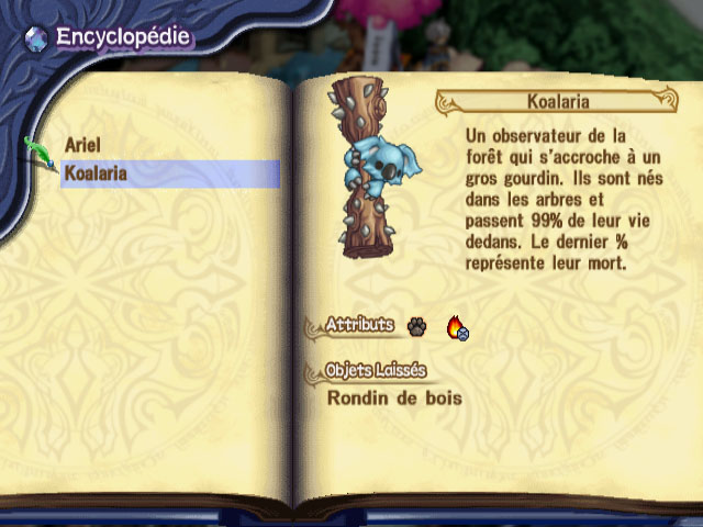 Encyclopédie - Monstres