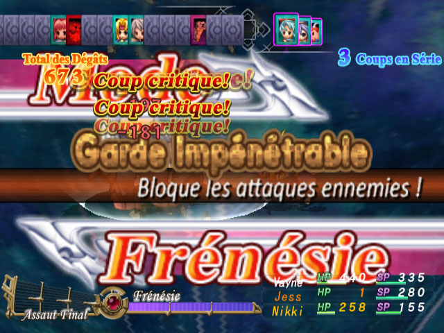 Combat - Mode Frénésie