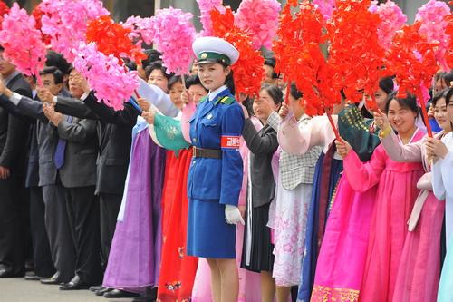 Pyongyang Traffic Girl - Olympic Torch Duty