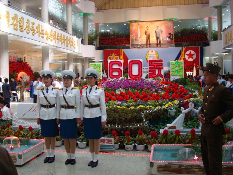 Pyongyang Traffic Girls At The Mall