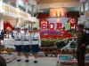 The traffic ladies appear at a mall on the occasion of the 60th anniversary of the founding of the DPRK.