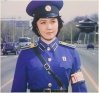 A still taken from the North Korean film A Traffic Controller On Crossroads. production date 1986