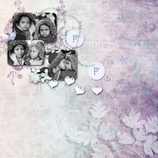 2nd Weekly Single Scrap Page January 11th Friend11_600x600