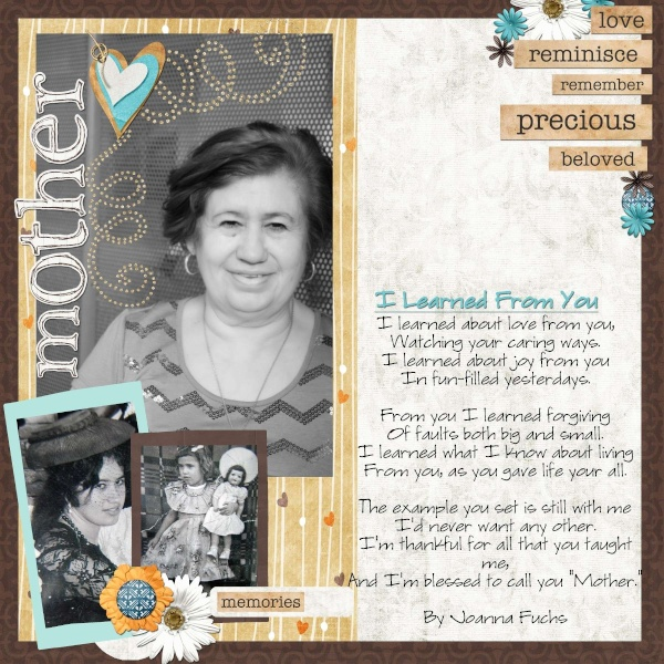2nd Weekly Single Scrap Page January 11th Mother10_600x600
