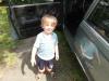 ... Deutschland , 16 Uhr 20...mein Sohn Sören Kjell nach 5 Stunden fahrt....und immer noch fit .. lol