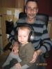 Das bin ich mit meinem Enkelkind Lea