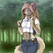 loby the white wolf girl