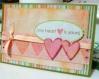 Meu primeiro cartão híbrido... uhuu! Material Digital: Kit Summer Delight by Sugarplum Paperie Material Artersanal: Fita de armarinho, cardstock da Repeteco, ilhós Making Memories, fita banana e carimbeira Colorbox para manchar os corações