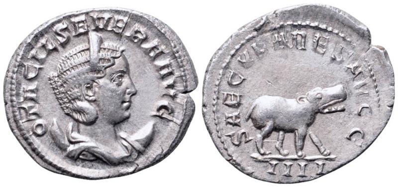 Antoniniano. Otacilia Severa (Serie de los Juegos Seculares). 248. Roma (Cuarta oficina).