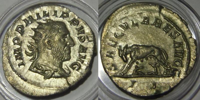 Antoniniano. Filipo I (Serie de los Juegos Seculares). 248. Roma (Segunda oficina).