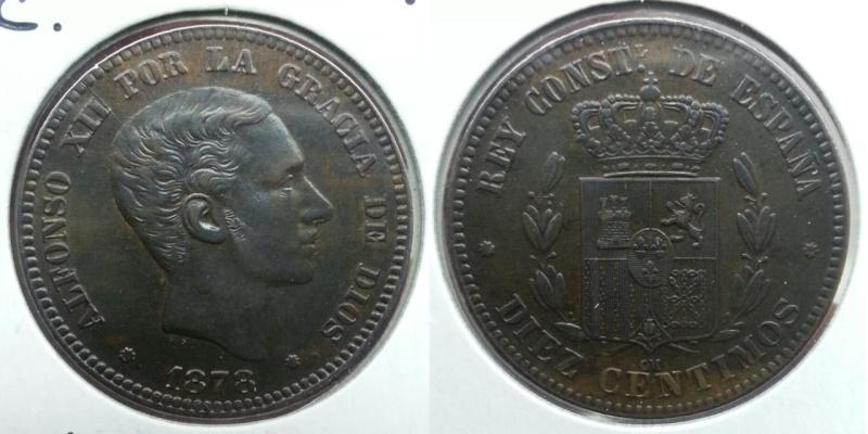 10 Céntimos de Alfonso XII año 1878