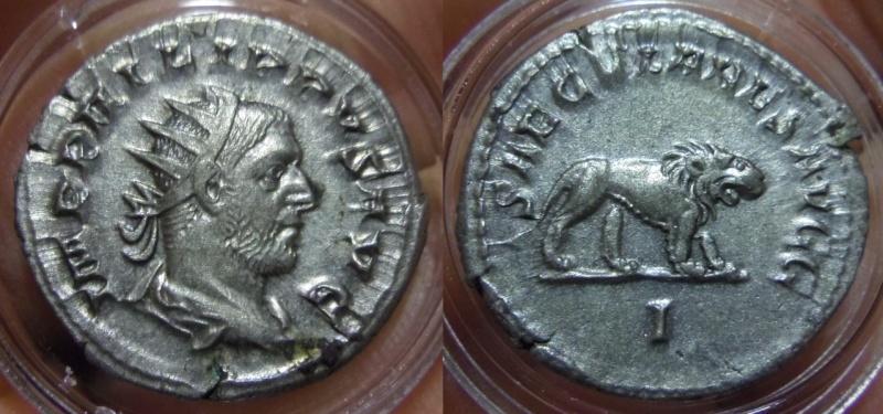 Antoniniano. Filipo I (Serie de los Juegos Seculares). 248. Roma (Primera oficina).