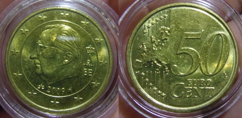 50 Céntimos. Alberto II. Bélgica. Bruselas. 2009. SC.
