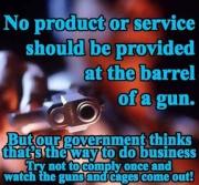 At barrel of gun
