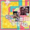 Minha LO de Dia dos namorados usando o novo kit Cut Love da Néia Arantes