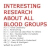 important info related to blood groups