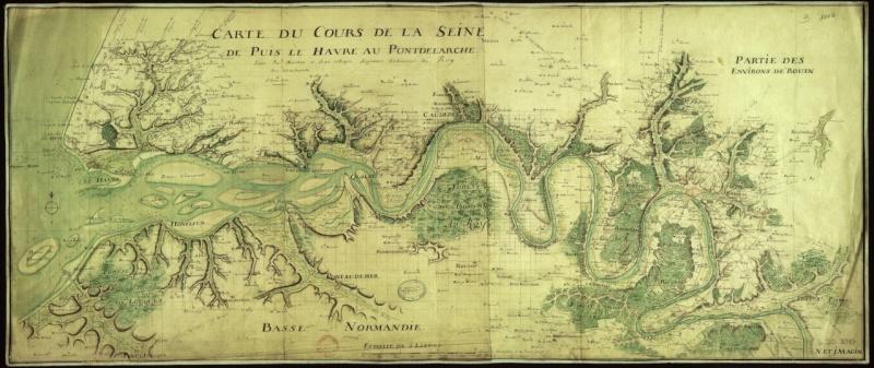 Carte du cours de la Seine