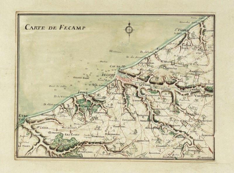 Carte région de Fécamp