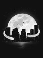 Renard sur la lune