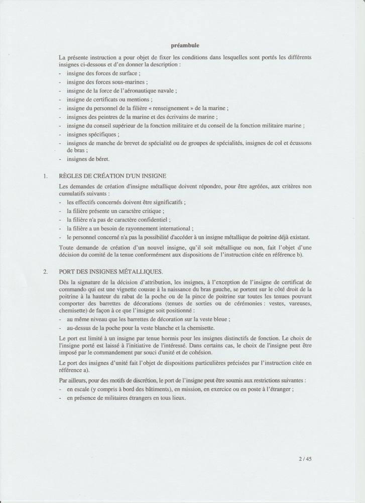 [LES TRADITIONS DANS LA MARINE] LE PORT DES DÉCORATIONS - Page 12 Numyri21
