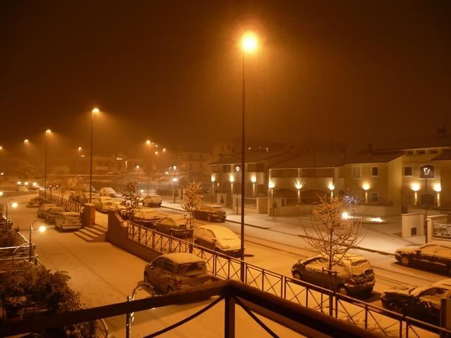 Ore 20.30 incomincia a nevicare