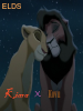 Un tierno avatar de la pareja de Kovu y Kiara, agradecimiento a Sabina por crearlo y donarlo para el legado de simba