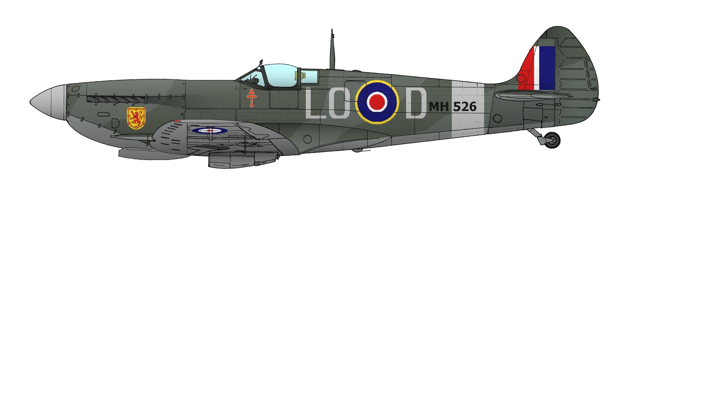 Un des Spitfires du Colonel Clostermann