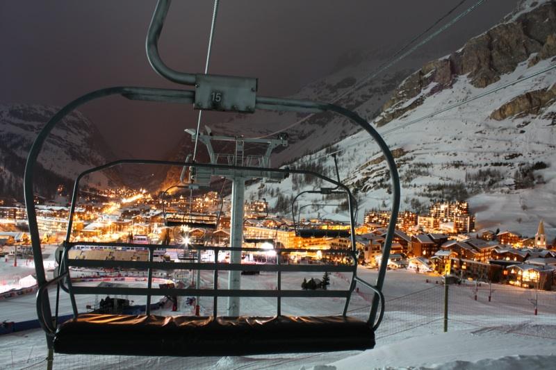 Le front de neige de Val d'Isère