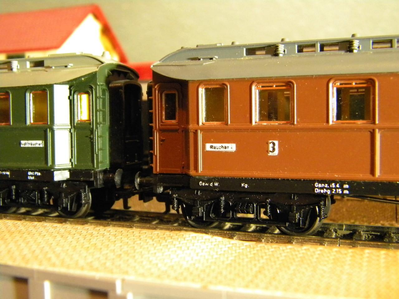 Kleinbahn 384 D-Zugwagen 1910 grün 00528