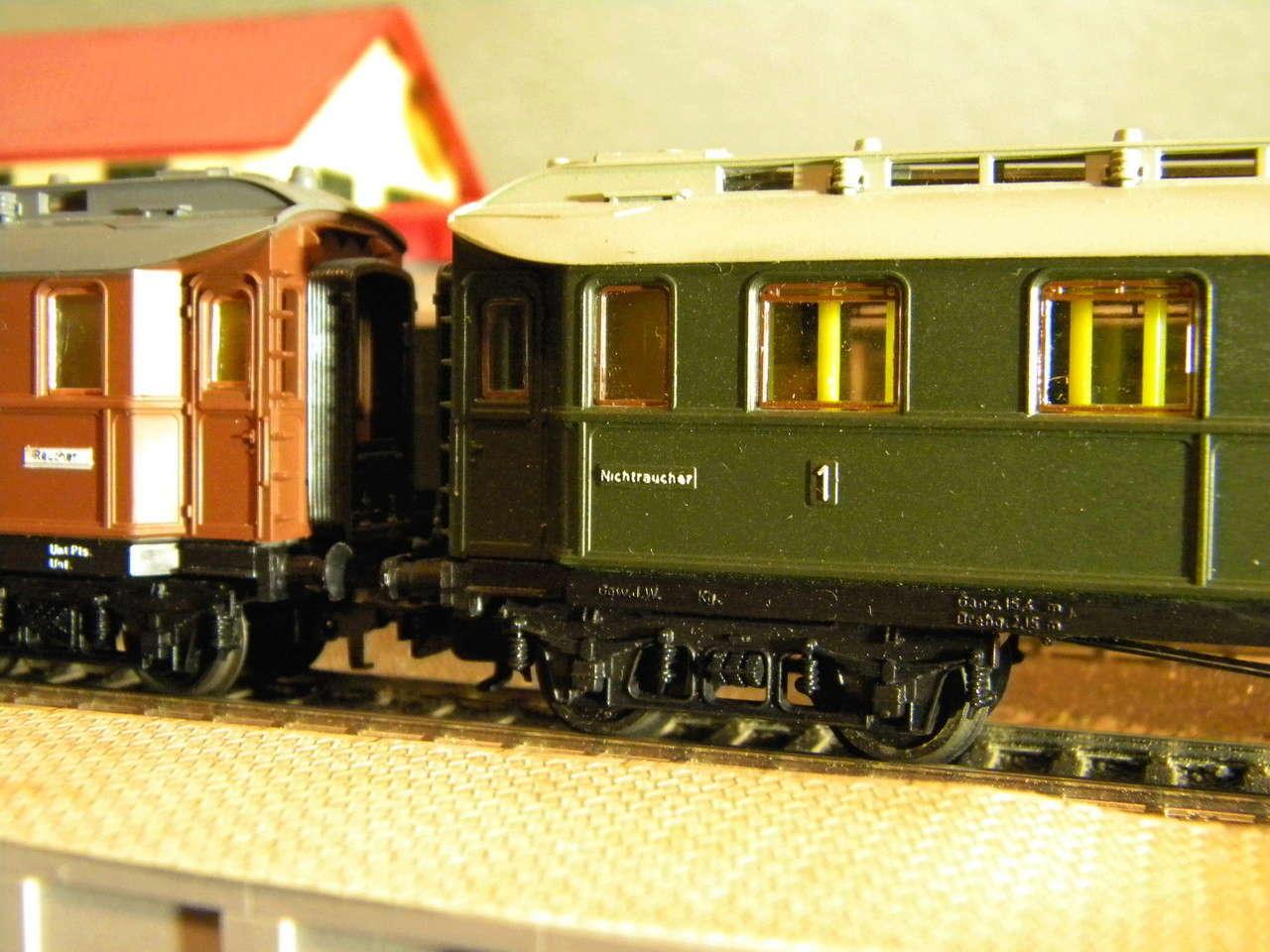 Kleinbahn 384 D-Zugwagen 1910 grün 00628