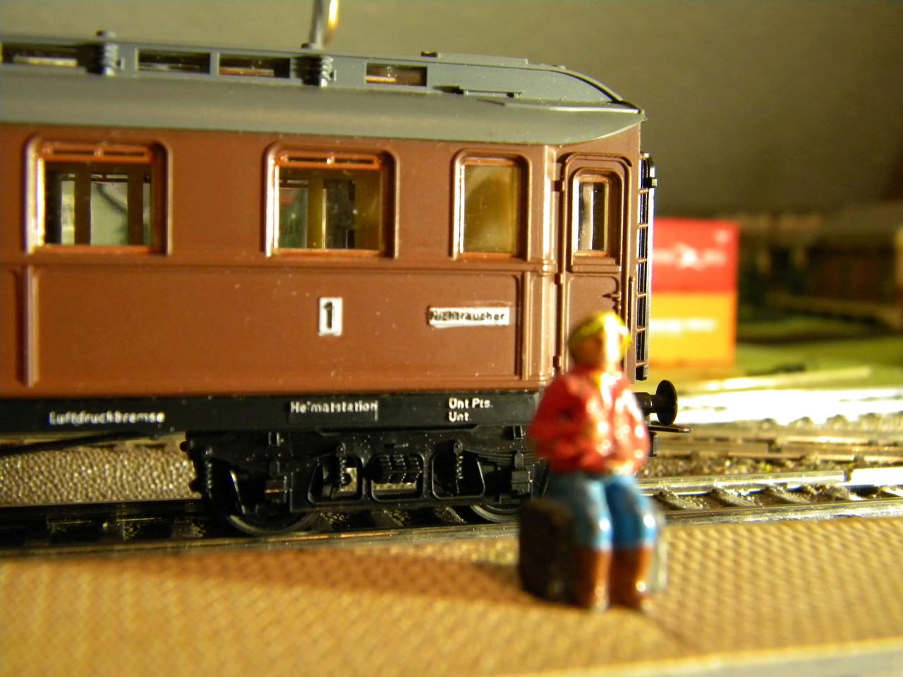 Kleinbahn 384 D-Zugwagen 1910 grün 00922