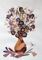 Flori presate cu lipici