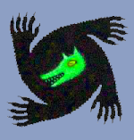 Le loup garou vert clair