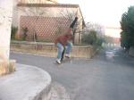 old-school skateboarder