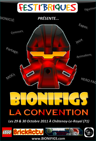 [Expo] Grande Convention des fans de BIONICLE & HERO Factory 2011 (71) Affich11