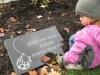 nous a la fetes des anges avec notre petite megane en compagnie de la marraine et le parrain d'Anais