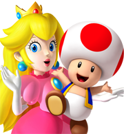 Toad and Peach
