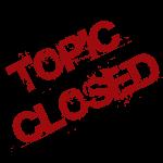 Topic Closed