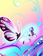 borboleta rosa