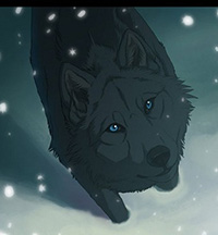 Blue the wolf